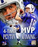 Peyton Manning 4 X MVP Portrait Plus Photo