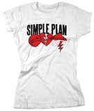 Juniors: Simple Plan - 3 Logos T-Shirts