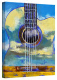 Michael Creese 'Guitar and Clouds' Gallery-Wrapped Canvas Gallery Wrapped Canvas by Michael Creese