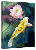 Michael Creese 'Koi and Lotus Flower' Gallery-Wrapped Canvas Stretched Canvas Print by Michael Creese