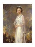 Her Majesty Queen Elizabeth II Premium Giclee Print by R. Macarron