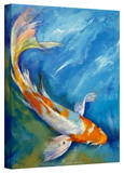 Michael Creese 'Yamato Nishiki Koi' Gallery-Wrapped Canvas Stretched Canvas Print by Michael Creese