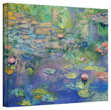 Michael Creese 'Water Garden' Gallery-Wrapped Canvas Stretched Canvas Print by Michael Creese