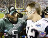Tom Brady & Donovan McNabb - Super Bowl XXXIX - talk after game Photo