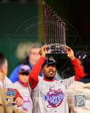 Jimmy Rollins With World Series Trophy Photo