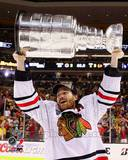 Duncan Keith with the Stanley Cup Game 6 of the 2013 Stanley Cup Finals Photo