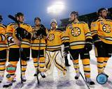 The Boston Bruins Post-Game Lineup 2010 NHL Winter Classic Photographie