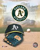 Oakland Athletics - '05 Logo / Cap and Glove Photo