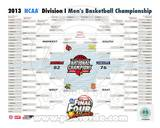 University of Louisville Cardinals 2013 NCAA Men's College Basketball National Champions Bracket Photo