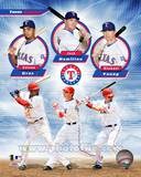Texas Rangers 2011 Triple Play Composite Photo