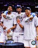 Kevin Durant, Serge Ibaka, & Russell Westbrook with the 2012 NBA WCFC Game 6 Photo