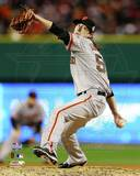 Tim Lincecum Game 3 of the 2012 World Series Action Photo