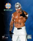 Rey Mysterio 143 - Blue and Black background Photo