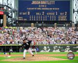 Mark Buehrle '09 Perfect Game Final Pitch with Scoreboard Photo
