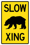 Slow - Bear Crossing Plastic Sign Wall Sign