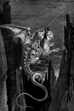 Gustave Dore (Dante's Divine Comedy, Inferno - Flying Beast) Plastic Sign Plastic Sign by Gustave Doré