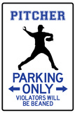Pitcher Parking Only Plastic Sign Targa in plastica