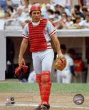 Johnny Bench - Catchers Gear Photo
