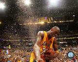 NBA Kobe Bryant Celebrates 2010 NBA Finals Championship (21) Photo