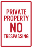 Private Property No Trespassing Sign Plastic Sign Plastic Sign