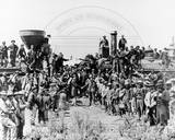 Transcontinental Railroad Completed Photographie