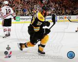 Patrice Bergeron Goal Celebration Game 3 of the 2013 Stanley Cup Finals Photo