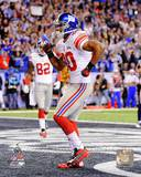 Victor Cruz Super Bowl XLVI Action Photo