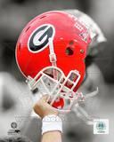 NCAA University of Georgia Bulldogs Helmet Spotlight Photo