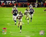 Tracy Porter Super Bowl XLIV Interception & Touchdown Return Photo