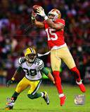 Michael Crabtree 2012 NFC Divisional Playoff Action Photo