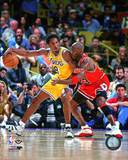 NBA Michael Jordan & Kobe Bryant 1998 Action Photo