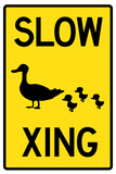 Duck Crossing Plastic Sign Wall Sign
