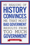 Too Much Government Thomas Jefferson Quote Plastic Sign Plastic Sign