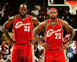 LeBron James & Shaquille O'Neal Photo