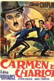 Burlesque on Carmen Movie Charlie Chaplin Plastic Sign Wall Sign