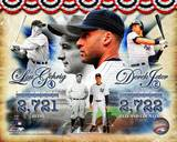 Derek Jeter & Lou Gehrig All-Time Yankee Hit Leader Composite Photographie