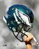 Philadelphia Eagles Helmet Spotlight Photo