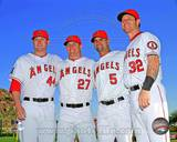 Mark Trumbo, Mike Trout, Albert Pujols, & Josh Hamilton 2013 Posed Photo
