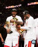 LeBron James & Dwyane Wade Celebrate after Game 7 of the 2013 NBA Finals Photo