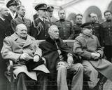 Winston Churchill, Franklin D. Roosevelt and Joseph Stalin at Yalta in 1945. Photo
