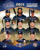 Milwaukee Brewers 2011 NL Central Division Champions composite Photo