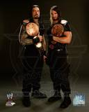 Seth Rollins & Roman Reigns with the Tag Team Championship Belts 2013 Posed Photo