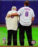 Yogi Berra & Gary Carter Final Game at Shea Stadium 2008 Photo