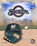 Milwaukee Brewers - '05 Logo / Cap and Glove Photo