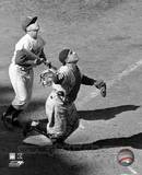 Yogi Berra - catching action / sepia ©Photofile Photo