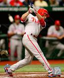 Chase Utley Game one of the 2008 MLB World Series Home Run Photo
