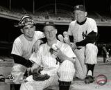 Mickey Mantle, Whitey Ford & Yogi Berra 1956 Posed Photo