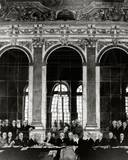 Signing the Treaty of Versailles Photo