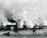 Historical CSS Virginia vs USS Monitor Photo