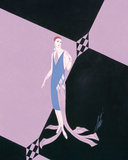 Evening Dresses and Curtains II Giclee Print by  Erté